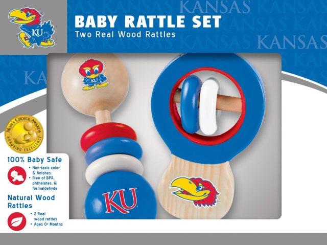 Amazon.com: Baby Fanatic NCAA Kansas Jayhawks 24-Pack Rattles, Team