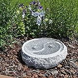 CLGarden Granit Vogeltränke M2 Vogelbad im Yin & Yang Design