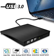 External DVD Drive, USB 3.0 Portable CD/DVD+/-RW Drive/DVD Player for Laptop CD ROM..