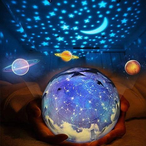 Star Night Light For Kids Elmchee Universe Night Light Projection Lamp Christmas Romantic Star Sea Birthday Projector Lamp For Bedroom 3 Sets Of Film Amazon Com