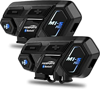 Motorcycle Bluetooth Intercom, Fodsports M1S Pro 2000m 8 Riders Group Motorbike Helmet..