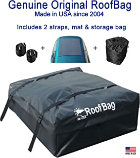 RoofBag Rooftop Cargo Carrier, Made in USA, 15 Cubic Feet. Waterproof Car Top Carriers..