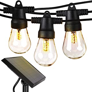 Brightech Ambience Pro – Waterproof, Solar Powered Outdoor String Lights – 27..