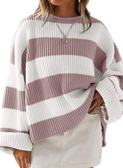 dirty-ink purple striped sweater