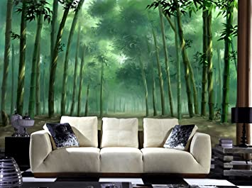 Buy Envouge Wallpaper Bamboo Forest 3d Design Washable 3ft X 2ft For Bedroom Living Room Online At Low Prices In India Amazon In