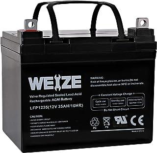 Weize 12V 35AH Battery Rechargeable SLA Deep Cycle AGM Replace 12 Volt 33AH 34AH 36AH..