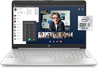 HP 15-Inch FHD Laptop, 10th Gen Intel Core i5-1035G1, 8 GB RAM, 256 GB Solid-State Drive,..