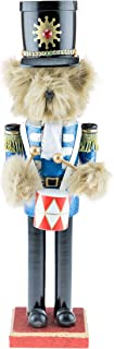 Clever Creations Traditional Wooden Collectible Teddy Bear Drummer Christmas Nutcracker |..