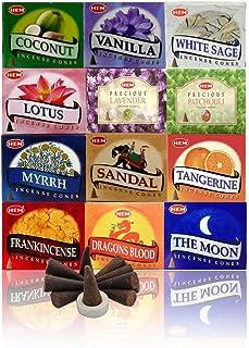 HEM pack of 12 assorted incense cones (10 cones each total 120 cones )