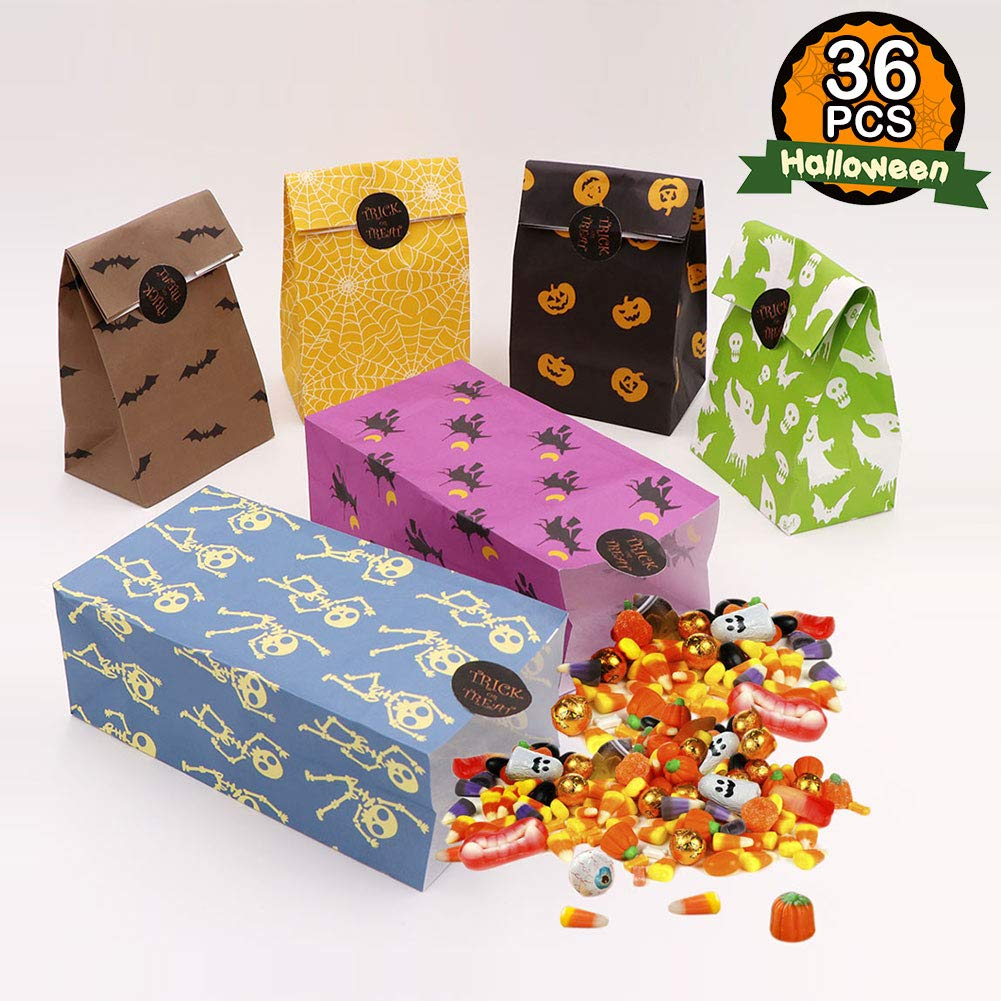 Ourwarm 36pcs Halloween Treat Bags Candy Gift Bags Halloween Party Favor Goody Gags With Trick Or Treat Stickers For Kids Halloween Party Decorations Buy Online In Kuwait Missing Category Value