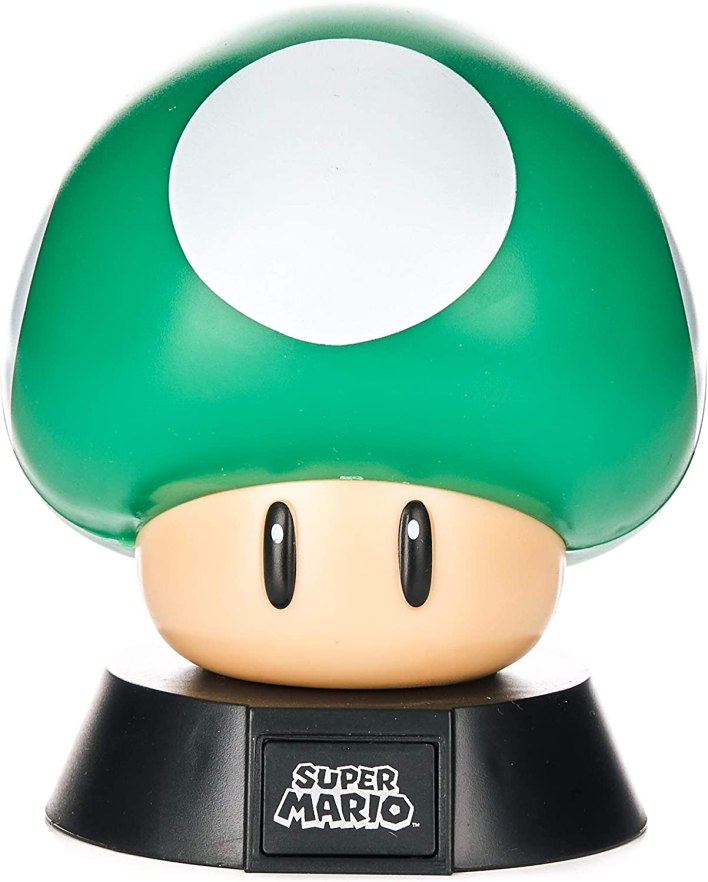 Paladone 1Up - Figura decorativa de seta con licencia oficial de Nintendo coleccionable | Ideal para dormitorios de niños, oficina y hogar | Pop Culture Gaming Merchandising, 1 W, color verde