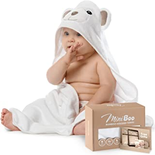 Miniboo Premium Ultra Soft Organic Bamboo Baby Hooded Towel with Unique Design –..