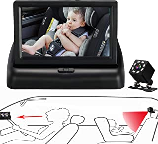 Itomoro Baby Car Mirror, View Infant in Rear Facing Seat with Wide Crystal Clear..