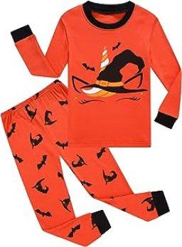 Dolphin&Fish Girls Pajamas Toddler Cotton 2 Piece Pjs Kids Sleepwear Clothes Sets