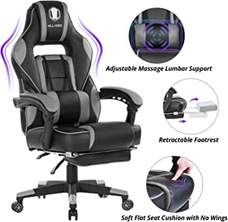 KILLABEE Massage Gaming Chair High Back PU Leather PC Racing Computer Desk Office Swivel..