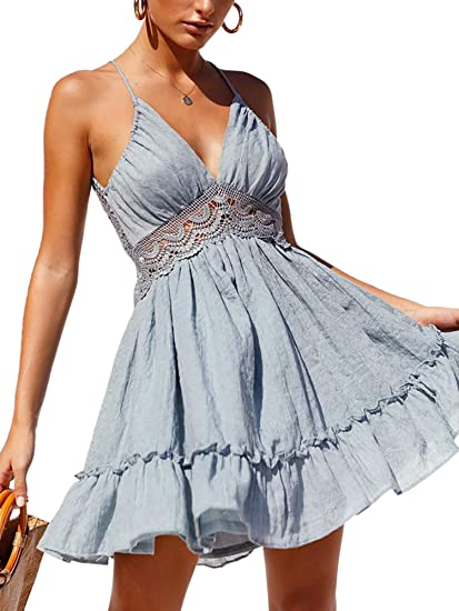 dirty blue boho summer beautiful summer dresses 2021 with details