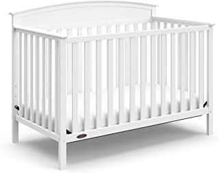 Graco Benton 4-in-1 Convertible Crib, White, Solid Pine and Wood Product Construction,..