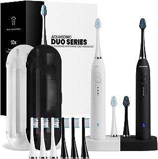 AquaSonic DUO Dual Handle Ultra Whitening 40,000 VPM Wireless Charging Electric..