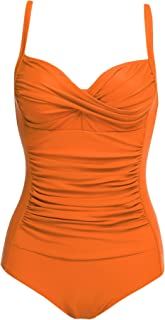 Womens One Piece Swimsuit Elegant Inspired Vintage Pin up Monokinis Tummy Control..