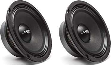 Skar Audio (2) FSX65-4 (2) FSX65-4 300-Watt 6.5-Inch 4 Ohm MID-Range Loudspeakers – 2 Speakers