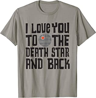 Star Wars Valentine's Day I Love You to the Death Star T-Shirt