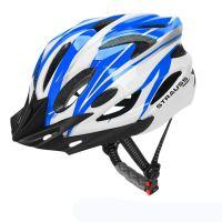 Strauss Cycling Helmet Blue White Black