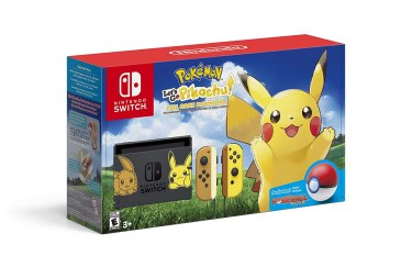 pokemon nintendo switch video game console bundle Let's go Pikachu and Let's go Eevee