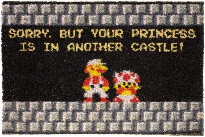 getDigital 12534Your Princess IS IN Another Castle Nerd–Felpudo (Felpudo para Puerta Alfombrilla Guardabarros Felpudo de Fibras de Coco, Fibra de Coco, Multicolor, 60x 40x 2cm