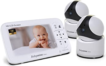 "Babysense Baby Monitor – 720P 5"" HD Display, Video Baby Monitor with Camera and.."