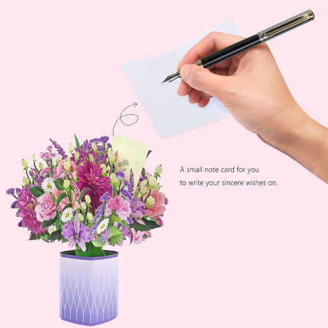 Buy Oritouchpop Pop Up Paper Flower Bouquet - 15D Flowers Greeting