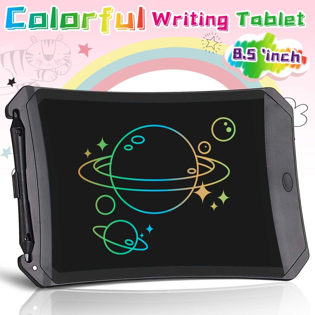 Orsen LCD Writing Tablet, 8.5-inch Colorful Drawing Doodle Board Drawing Tablet, Boys Girls Gifts Toys for 3 4 5 6 7 Year Old Girls Boys(Light Black)