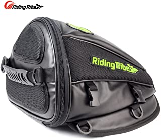 Riding Tribe Motorcycle Tail Bag Multifunctional Waterproof Backpack PU Leather Luggage..