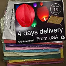 Nuluphu 100% ECO Biodegradable Flying Chinese Sky Lanterns, No Assembly Required(no Metal..