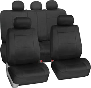 FH Group FB083BLACK115 Full Set Seat Cover (Neoprene Waterproof Airbag Compatible and..