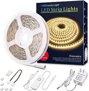 LED Light Strip 16.4ft Warm White 3000K Dimmable LED Strip Lights Ultra Bright LED Tape..
