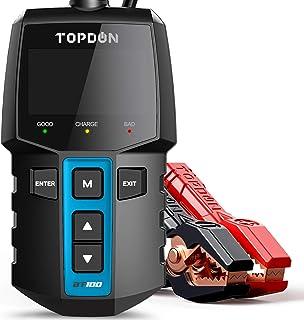 Car Battery Tester 12V Load Tester, TOPDON BT100 100-2000 CCA Automotive Alternator..