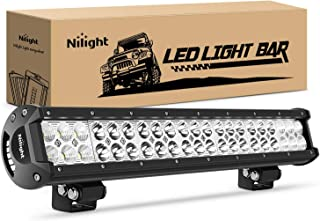 Nilight 20Inch 126W Spot Flood Combo Led Light Bar Off Road Lights Boat Lighting Fog..