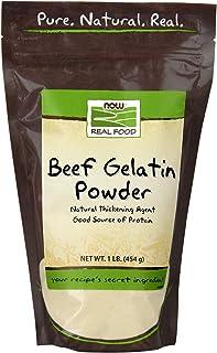 NOW Foods, Beef Gelatin Powder, Natural Thickening Agent, Source of Protein, 1-Pound