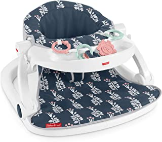 Fisher-Price Sit-Me-Up Floor Seat with Tray – Navy Garden, Infant Chair