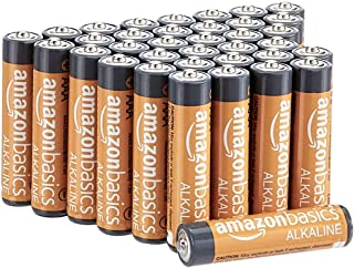 AmazonBasics 36-Count AAA High-Performance Alkaline Batteries, 10-Year Shelf Life, Easy..