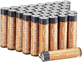 AmazonBasics 36 Pack AAA High-Performance Alkaline Batteries, 10-Year Shelf Life, Easy to..