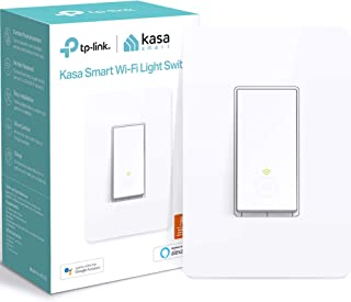 Kasa Smart Light Switch by TP-Link, Single Pole, Needs Neutral Wire, 2.4Ghz WiFi Light..