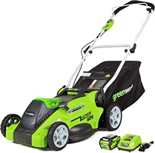Greenworks G-MAX 40V 16'' Cordless Lawn Mower with 4Ah Battery – 25322 model