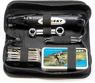 Kitbest Bike Repair Tool Kit. Bicycle Tire Pump, Tire Puncture Repair Kit, Bike Multi..