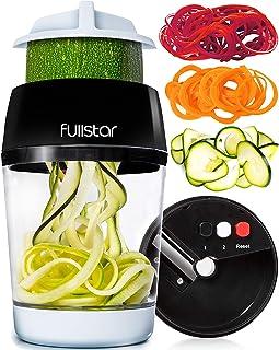 fullstar Vegetable Spiralizer Vegetable Slicer – 3 in 1 Zucchini Spaghetti Maker..