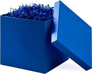 "Hallmark 7"" Gift Box with Lid (Royal Blue) for Christmas, Hanukkah, Birthdays,.."