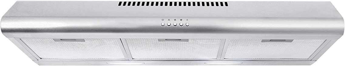 Cosmo COS-5MU36 36 in. Under Cabinet Range Hood Ductless Convertible Duct, Slim Kitchen..