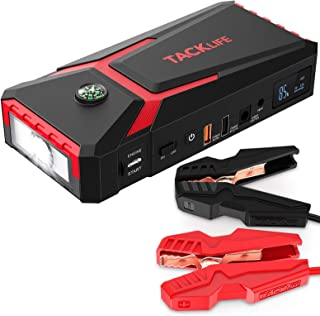 TACKLIFE T8 800A Peak 18000mAh Car Jump Starter with LCD Display (up to 7.0L Gas, 5.5L..