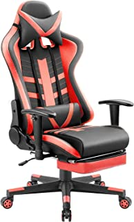 Homall Ergonomic High-Back Racing Pu Leather Bucket Seat Computer Swivel Office Headrest..