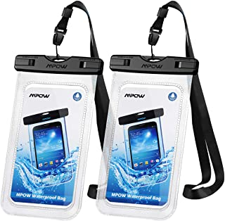 Mpow 097 Universal Waterproof Case, IPX8 Waterproof Phone Pouch Dry Bag Compatible for..